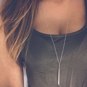 Jewelry - Silver Bar Necklace
